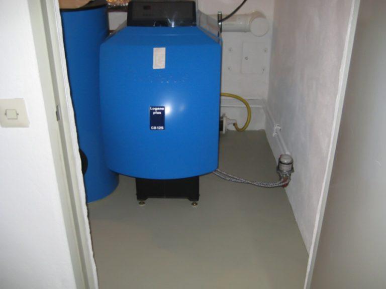 Auch für den Heizraum ist der Bodenbelag ideal geeignet. Er ist Ölbeständig und leicht zu reinigen