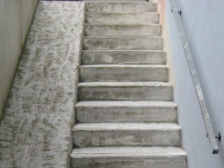 Auch diese Treppe ist bereits vorbereitet