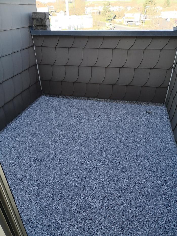 Dachterrasse nach der Abdichtung inkl.von uns eingebautem Abfluss