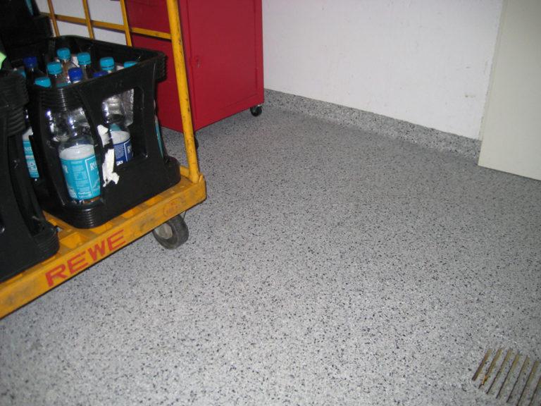 Lagerraum mit spezielle Versiegelung für Lebensmittelbereiche